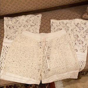 Solitaire Swim - Solitarie swim cover wide leg crochet/lace pants